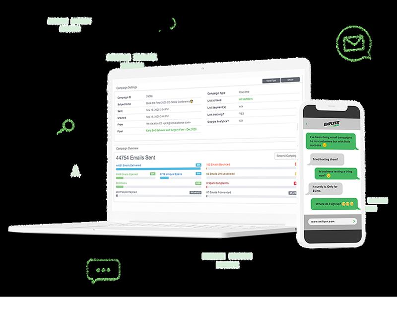 SMS and Email Marketing Platform - EnFlyer